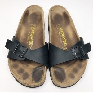 b9392290f35e Women s Black Birkenstock Sandals